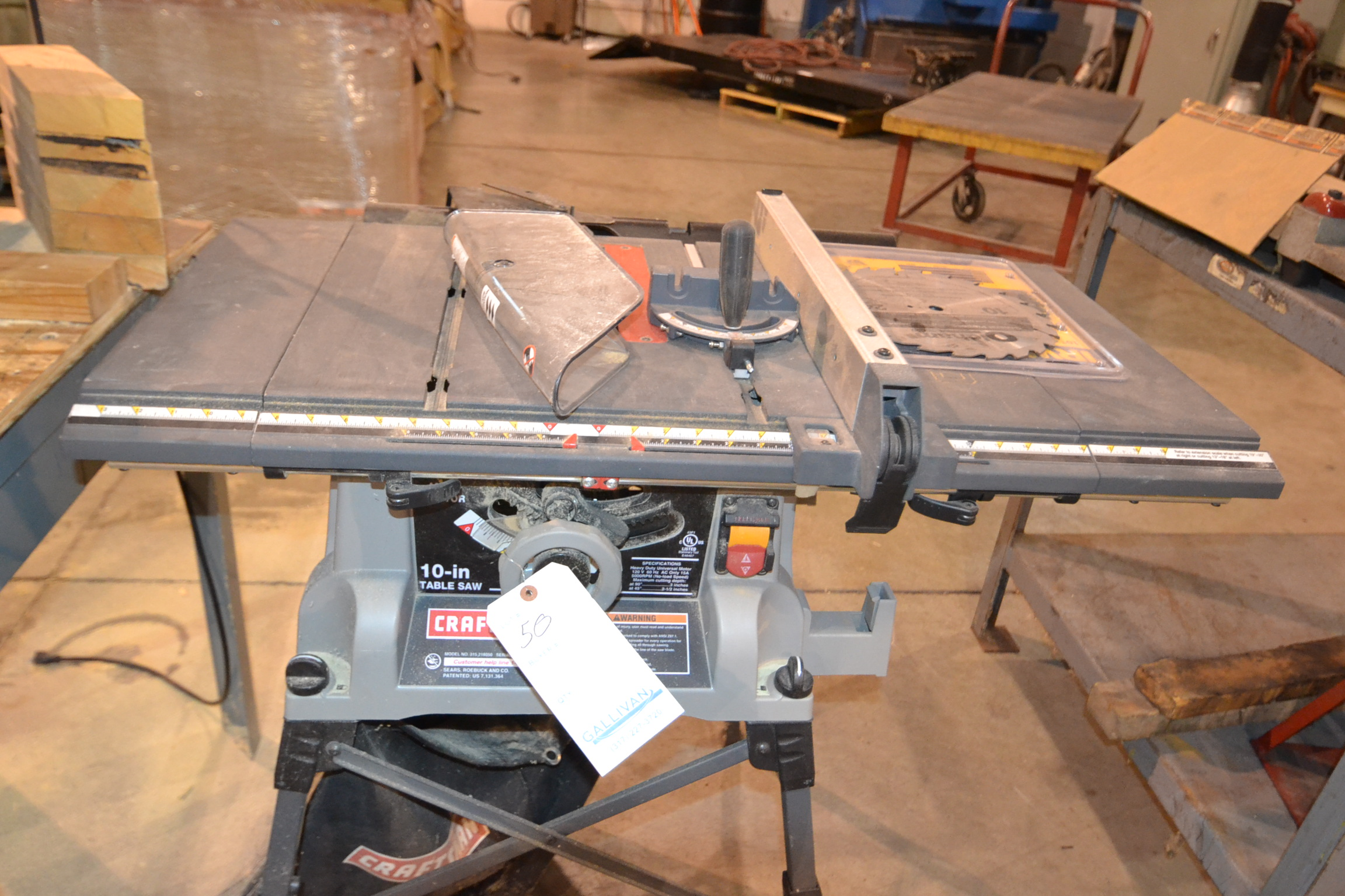 Table Saw Craftsman Mdl 10 Blade