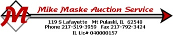 Mike Maske Auction Service