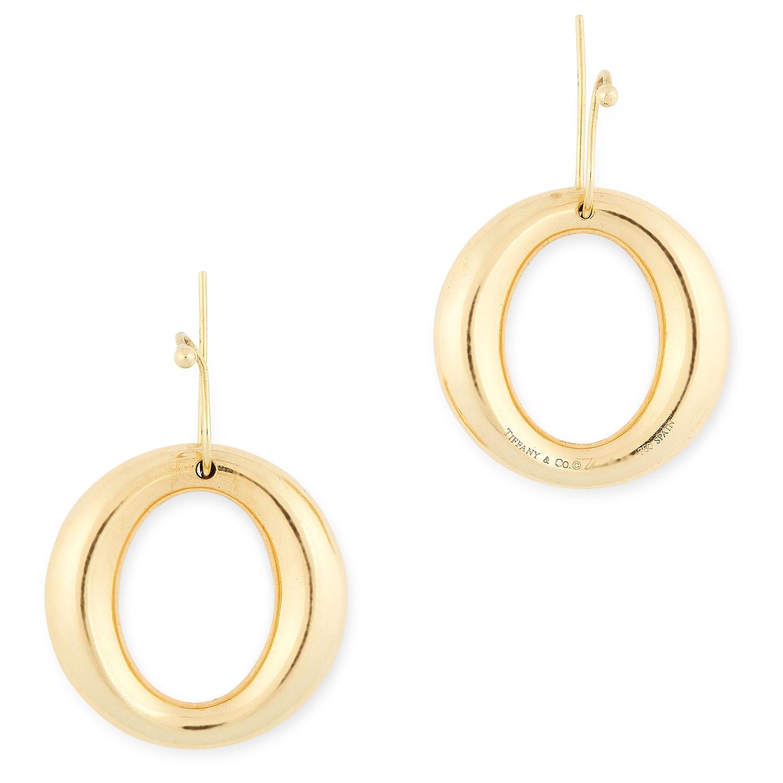 A PAIR OF SEVILLANA EARRINGS, ELSA PERETTI FOR TIFFANY & CO each designed as a graduated hoop