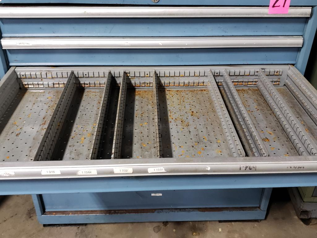 7 drawer Lista tool cabinet. Overall dimensions 42Tx40.5Wx23D. - Image 3 of 3
