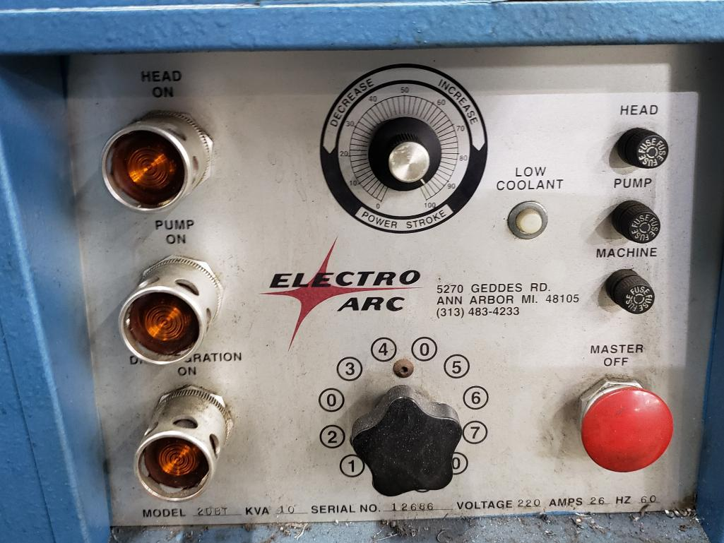 Electro Arc model 20BT metal disintegrator tap extractor. 10kVa, 220v, serial number 12686. - Image 6 of 6