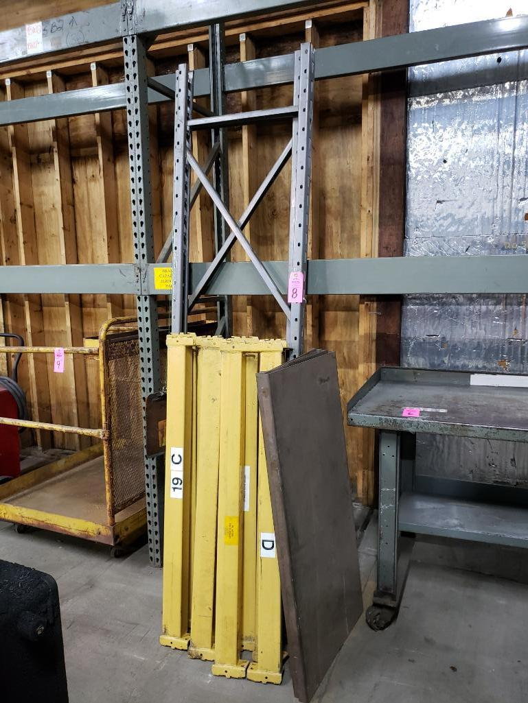 8' tall pallet rack section with 8 cross beams and steel deck. - Image 2 of 2