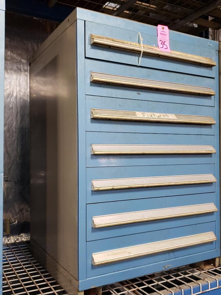 7 drawer Stanley Vidmar tool cabinet. Overall dimensions 44Tx30Wx28D. - Image 2 of 2