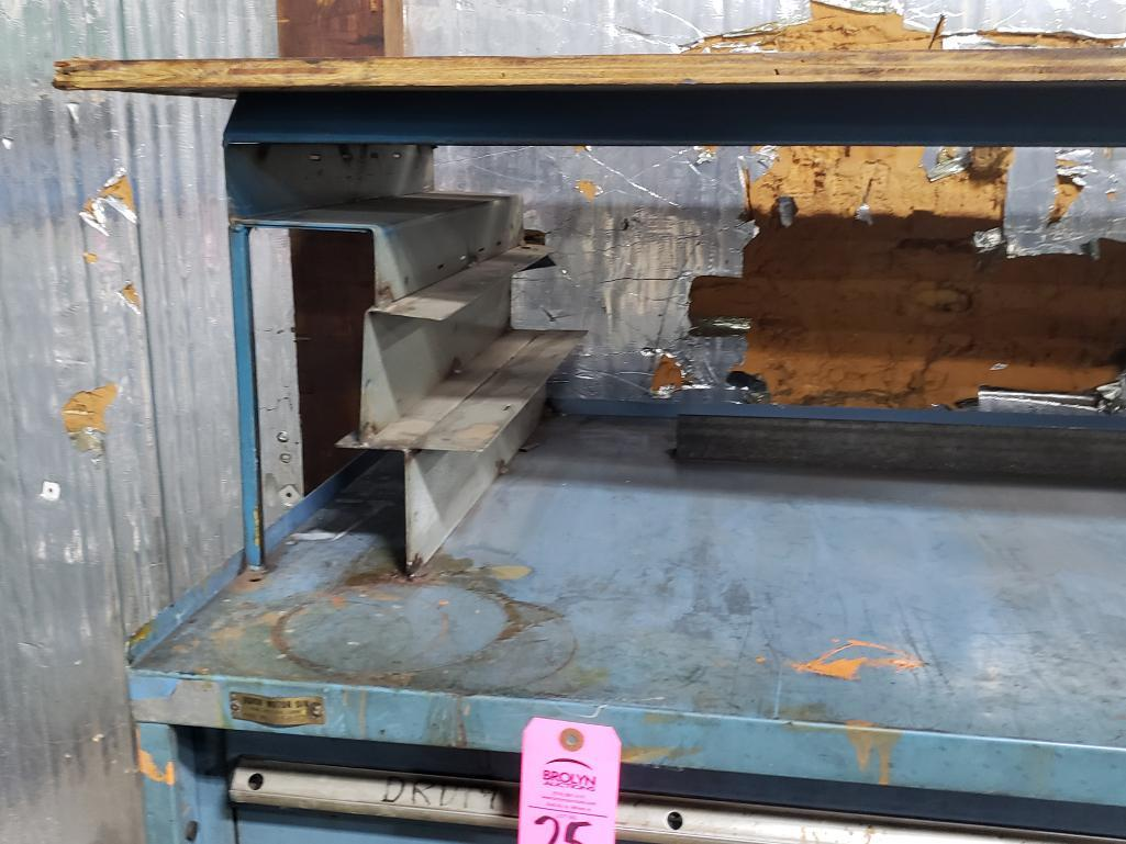 11 drawer Stanley Vidmar tool cabinet work bench. Overall dimensions 57.5Tx56.5Wx31D. - Image 4 of 4