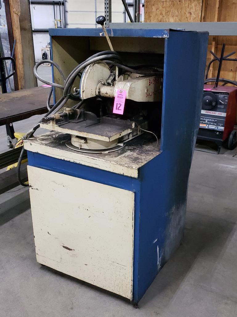 Backus 2hp cold abrasive saw. 3 phase, 208-230/460v.