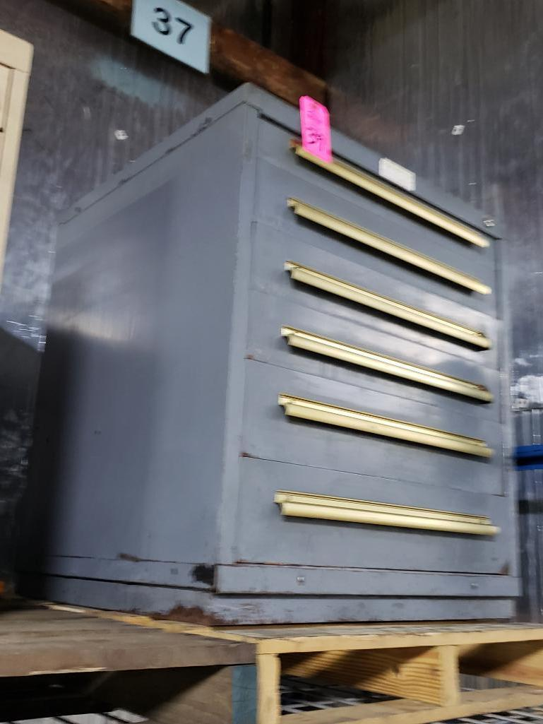 6 drawer Equipto tool cabinet. Overall dimensions 34Tx30Wx28D. - Image 2 of 2