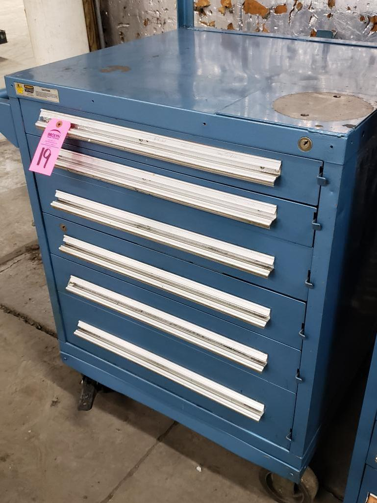 6 drawer Stanley Vidmar on casters. Overall dimensions 59.5Tx36Wx35D. - Image 2 of 4