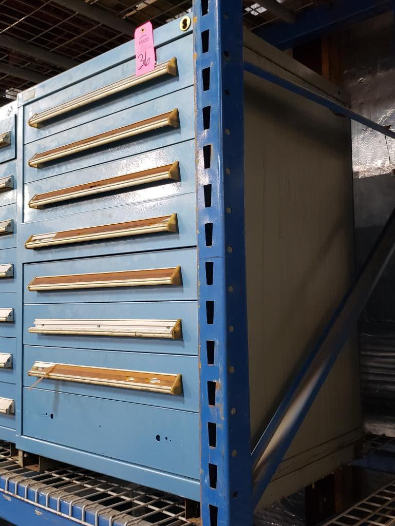 8 drawer Stanley Vidmar tool cabinet. Overall dimensions 44Tx30Wx28D. - Image 2 of 2