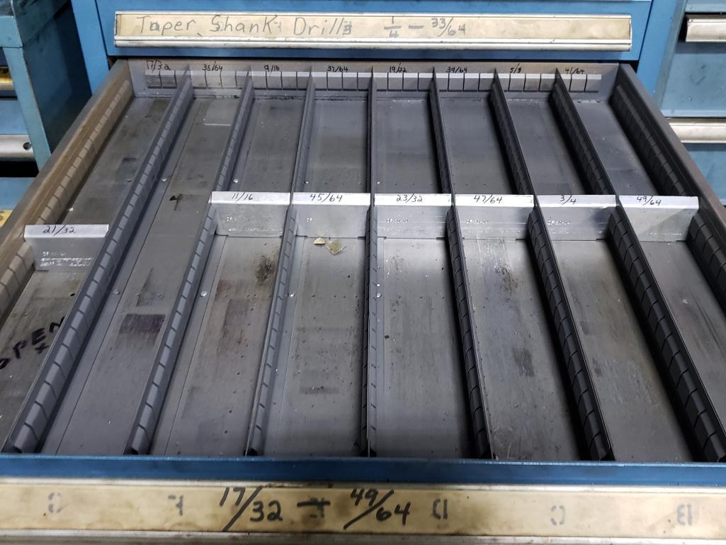 14 drawer Stanley Vidmar tool cabinet. Overall dimensions 59Tx30Wx28D. - Image 5 of 5