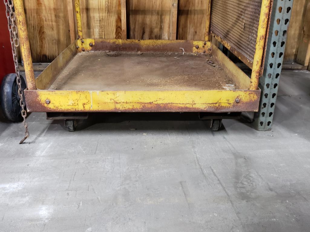 Forklift safety man basket. - Image 2 of 3