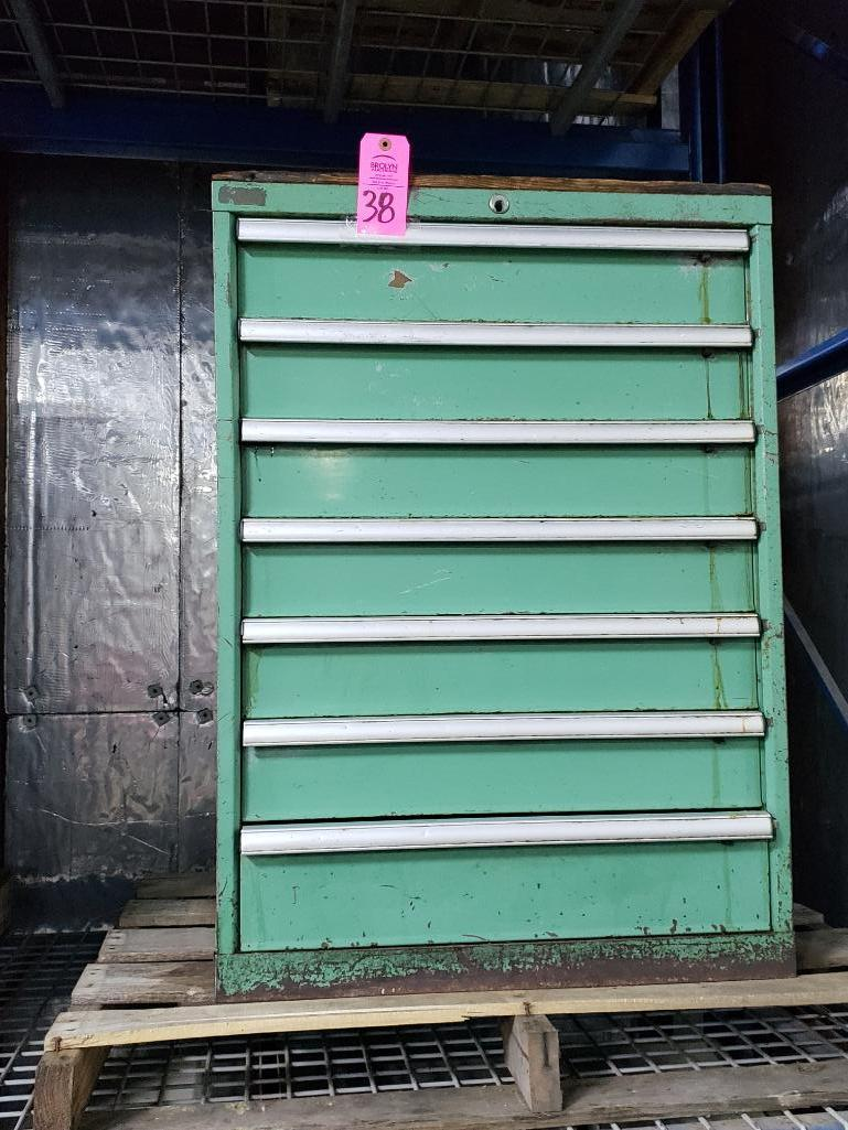 7 drawer Tool cabinet. Overall dimensions 40Tx28Wx23D.