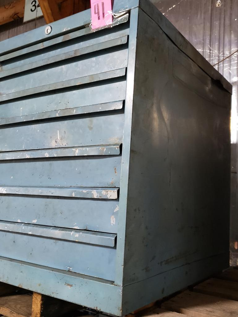 7 drawer Lista tool cabinet. Overall dimensions 27.5Tx23Wx28D. - Image 2 of 2