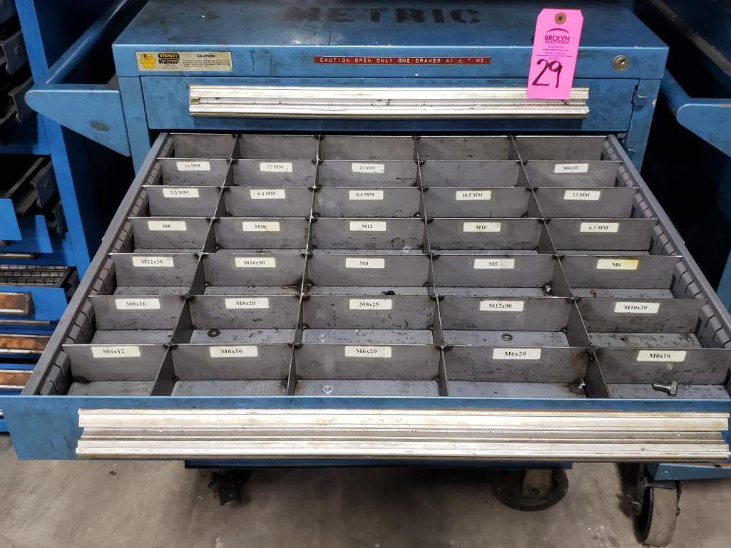 6 drawer Stanley Vidmar tool cabineton casters. Overall dimensions 41Tx35.5Wx28D. - Image 2 of 3