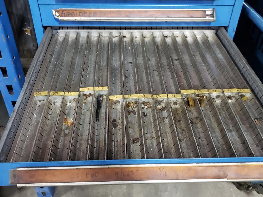 11 drawer Stanley Vidmar tool cabinet. Overall dimensions 44.5Tx30Wx28D. - Image 3 of 4