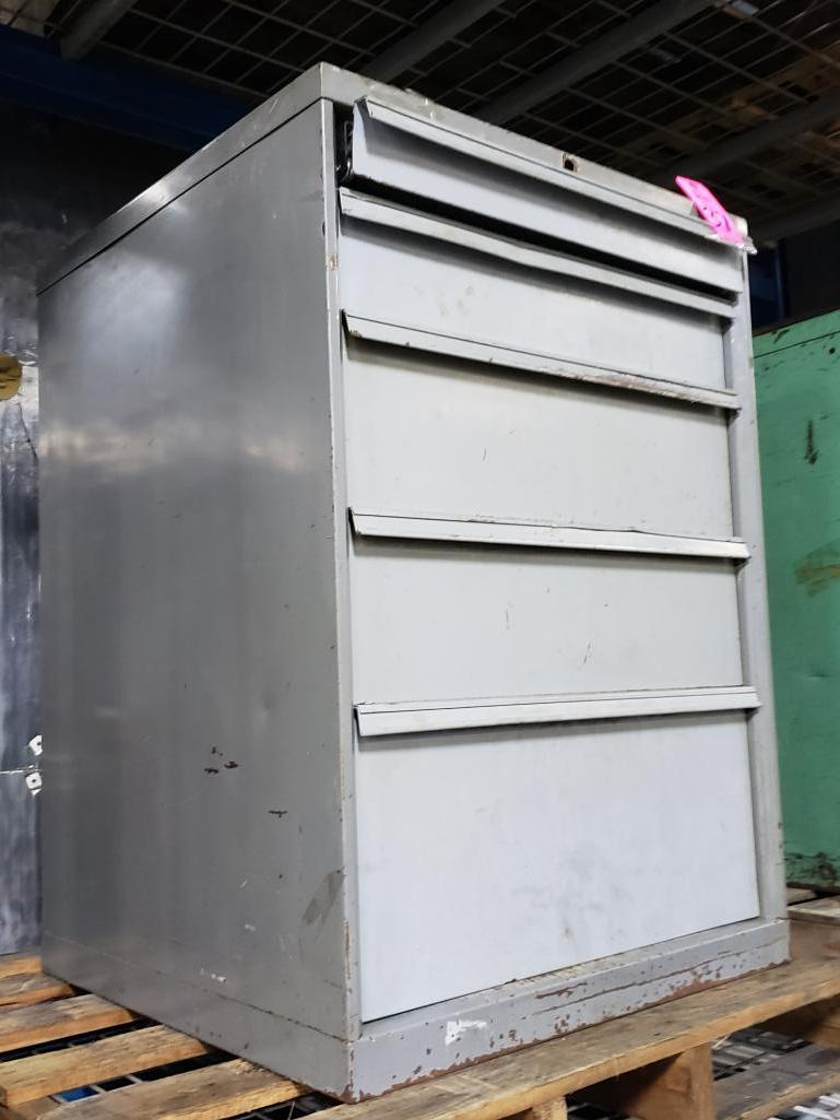 5 drawer Tool cabinet. Overall dimensions 39.5Tx28Wx29D. - Image 2 of 2