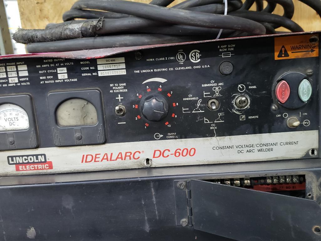 Lincoln Electric welder Idealarc DC-600 arc welder, 3 phase 230/460v input. - Image 4 of 5