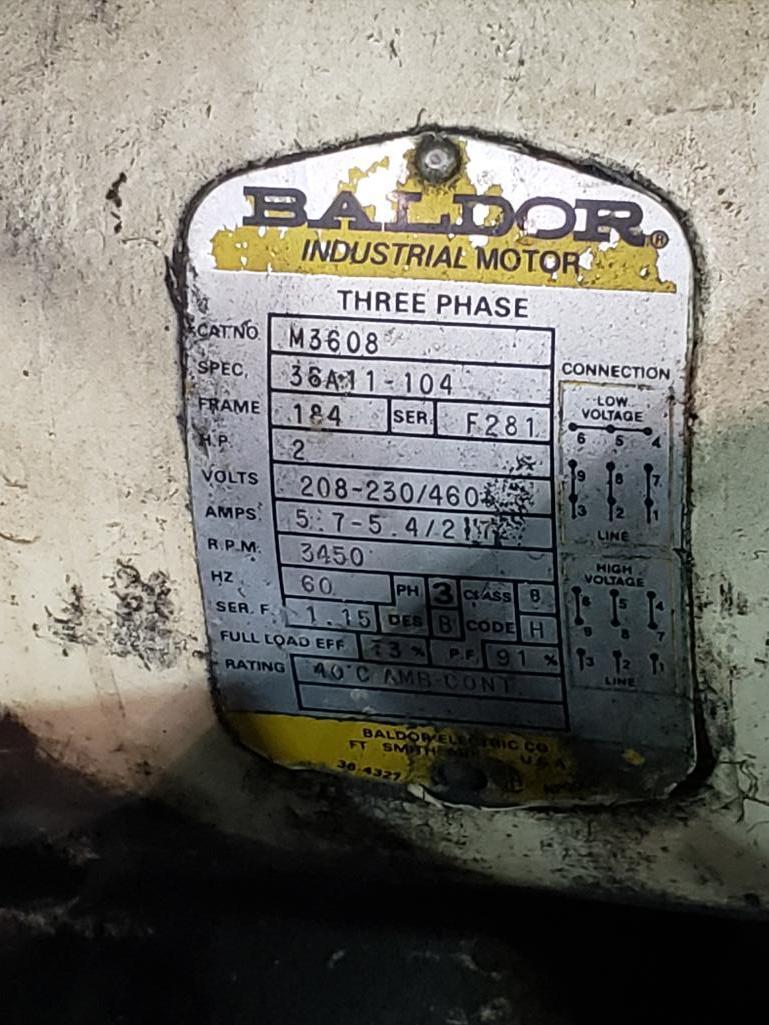 Backus 2hp cold abrasive saw. 3 phase, 208-230/460v. - Image 4 of 4