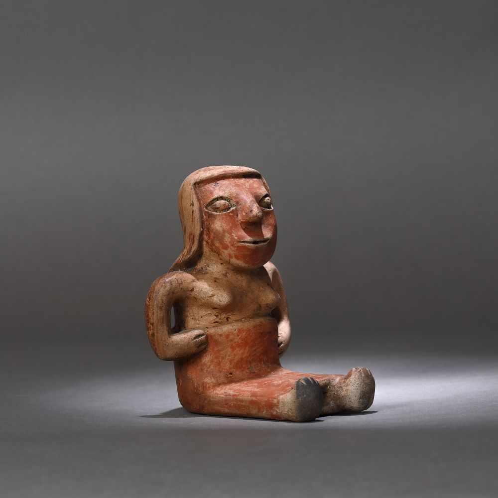 Ceramic statuette, depicting a female figure, Narino culture, Columbia, approx. 1,750 years old, 3rd - Bild 4 aus 6