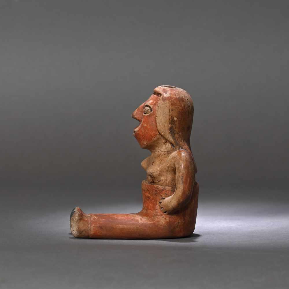 Ceramic statuette, depicting a female figure, Narino culture, Columbia, approx. 1,750 years old, 3rd - Bild 3 aus 6