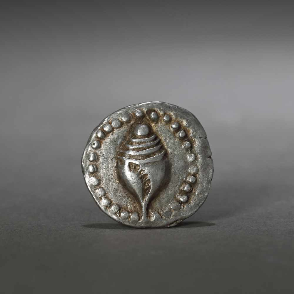Silver coin, reproducing a shell, issued by the Kingdom of Dvaravati, Thailand, approx. 5th century
