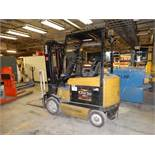 Yale 5000 Lbs. Battery-Operated Sit-Down Forklift Model ERC050, S/N A908v02156B (2004), Cushion Tire