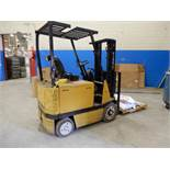 Mitsubishi 36 Volt Battery-Operated Forklift Model FCB20, 4,000 lbs Capacity,