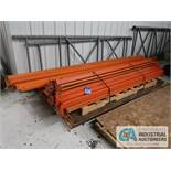"""(LOT) UNASSEMBLE PALLET RACK INCLUDING (2) 36"""" X 120"""" & (2) 48"""" X 138"""" UPRIGHTS AND (4) 132"""" AND ("""