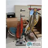 (LOT) (2) FLOOR BUFFERS WITH PADS AND (1) VACUUM