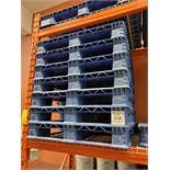 (45) 40 x 48 blue plastic pallets