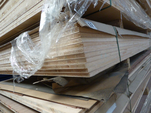Lot 12 - 12 sheets of maple faced blockboard 1220mm x 2440mm x 20mm