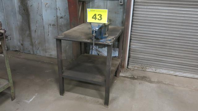 "STEEL, WORK BENCH WITH 6"" VICE, 3' x 2' x 3'"