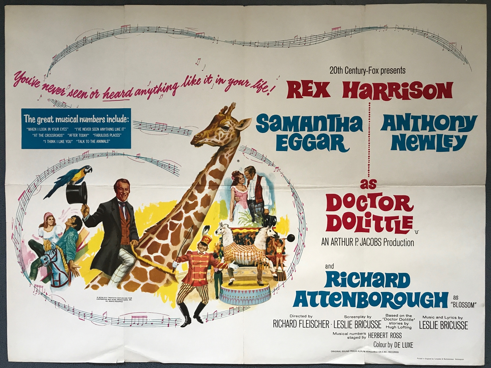 Image result for doctor dolittle 1967 poster