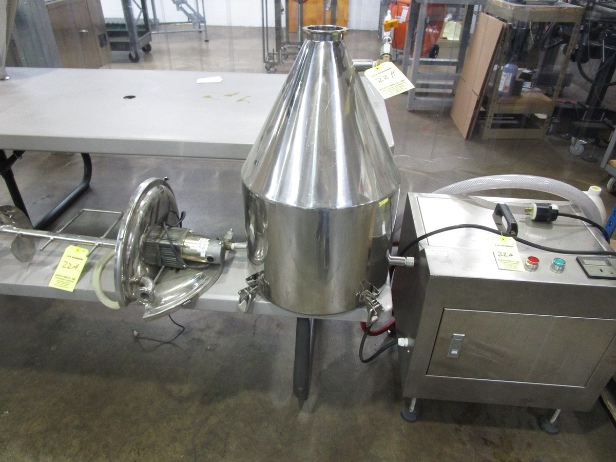 JDA Heated Tank with Jacketed Hopper | Rig Fee: $0