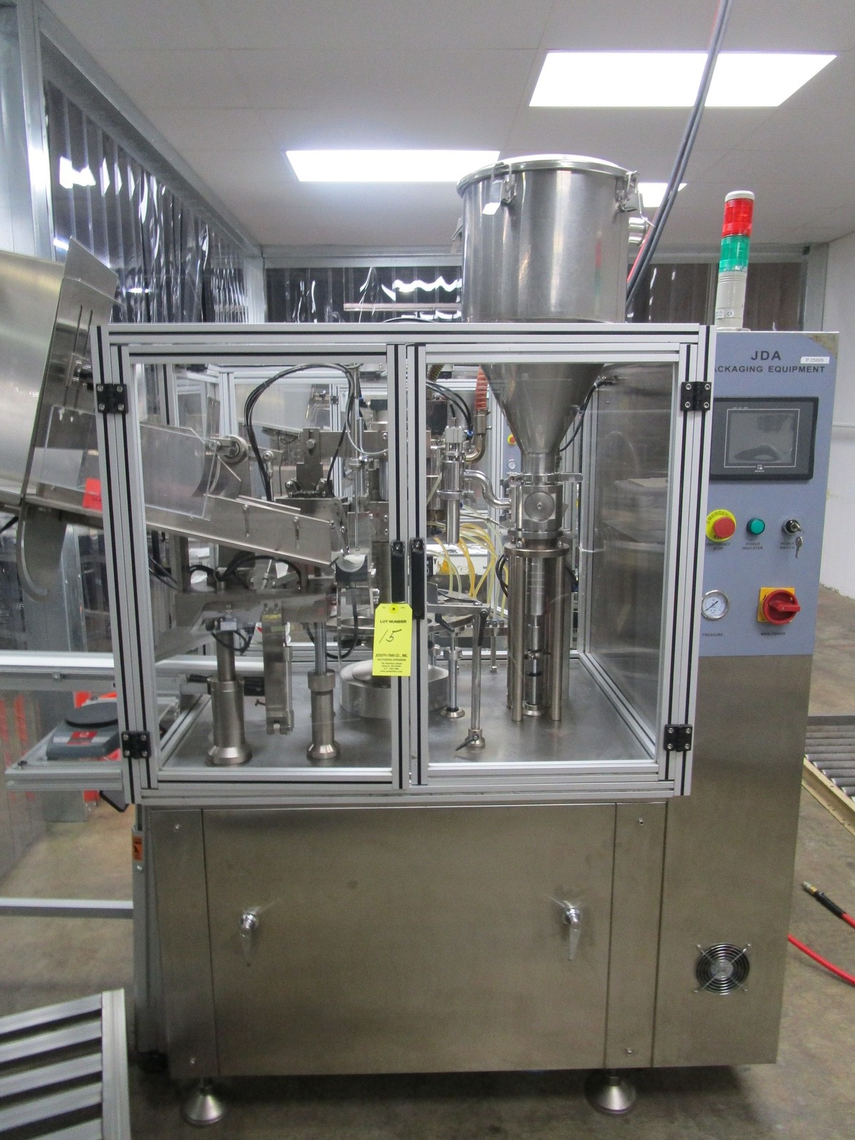2012 JDA Packaging Equipment Super 30 Automatic 9-Pocket Hot Air Tube Filler s/n 230 | Rig Fee: $650 - Image 2 of 14