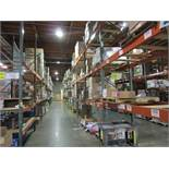 "(71) Sections of Adjustable Pallet Shelving Including (77) 16' x 44"" Uprights, (38 
