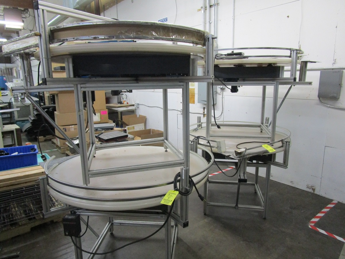 "Lot 20 - (4) 45"" Rotary Accumulation Tables 