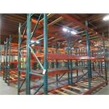 "(32) Sections of Adjustable Pallet Shelving Including (40) 12' x 44"" Uprights, , ( 