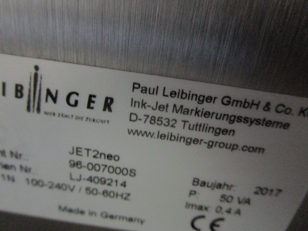 Lot 27 - 2017 Leibinger Jet2neo Ink Jet Printer s/n LJ-409214 | Rig Fee: $75