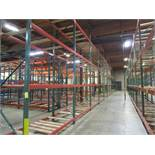 "(71) Sections of Adjustable Pallet Shelving Including (74) 16' x 44"" Uprights, (9) 