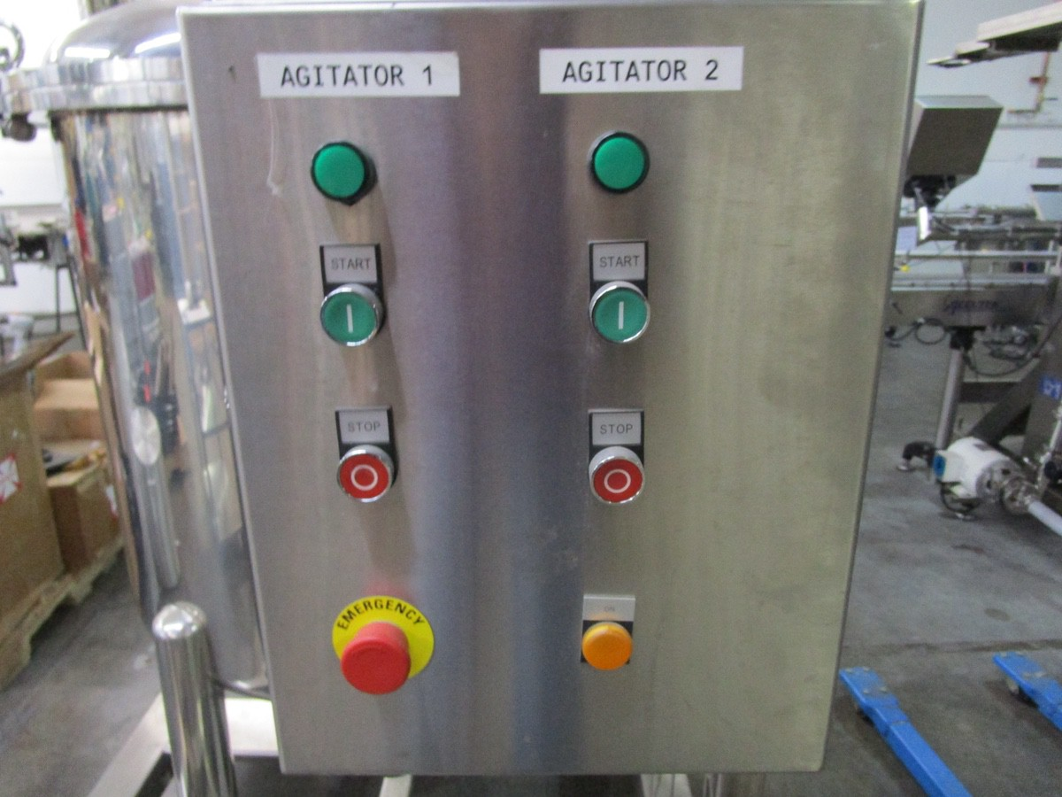 Approx. 75 Gallon Stainless Steel High Polish Twin Agitated Vessel, (2) Mixer/Agitat | Rig Fee: $300 - Image 10 of 10