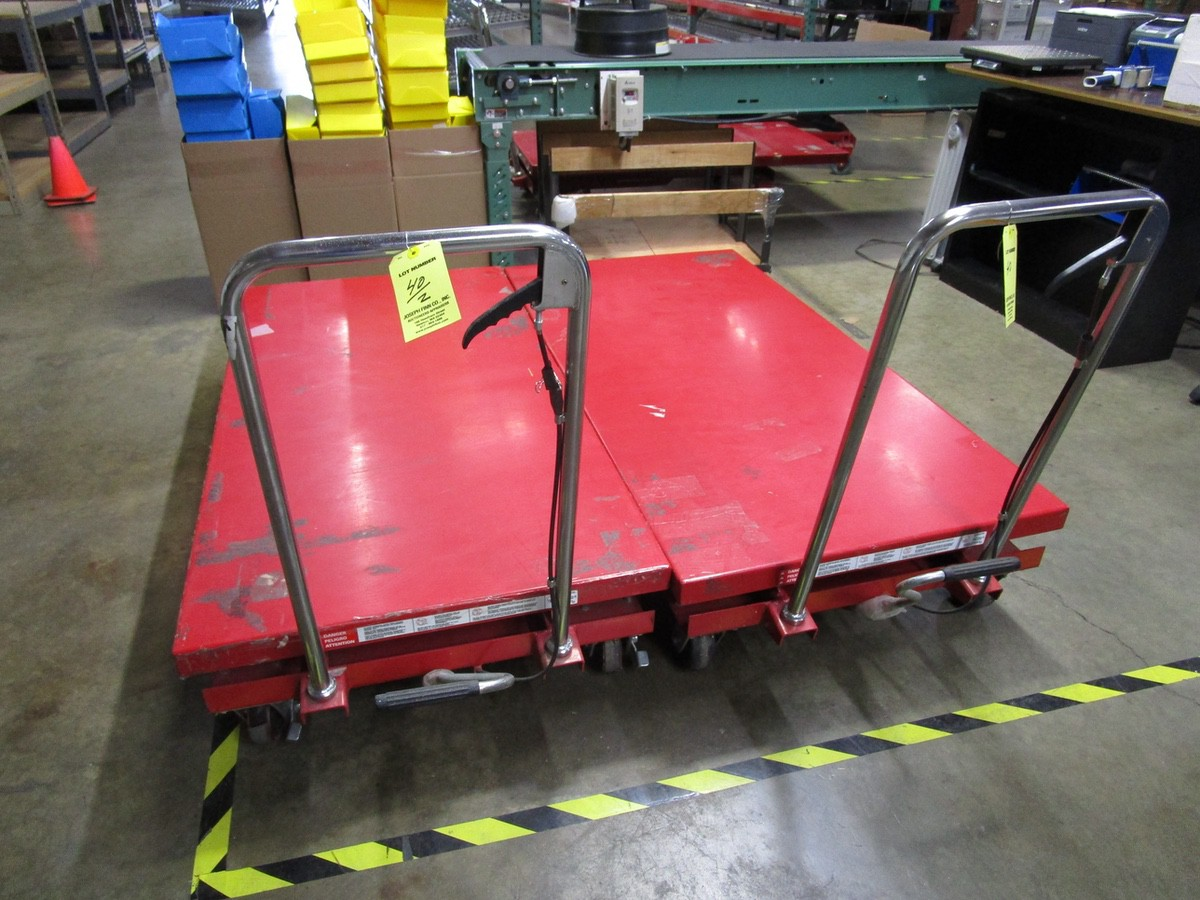(2) Dayton 4ZC18J Scissor Lift Tables | Rig Fee: $100 - Image 2 of 3