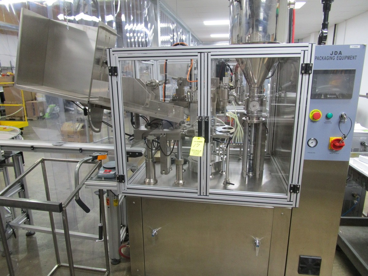 Lot 17 - 2017 JDA Packaging Equipment Super 30 Automatic 9-Pocket Hot Air Tube Filler s/n 230 | Rig Fee: $650