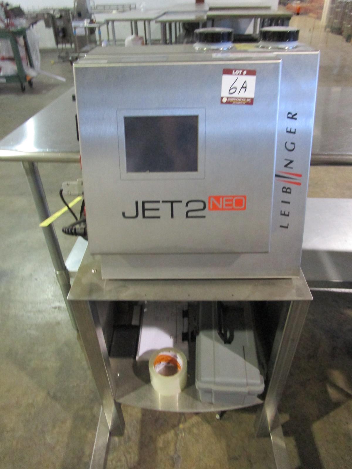 Lot 6A - 2017 Leibinger Jet2 Neo Ink Jet Printer s/n LJ-410776 | Rig Fee: $75