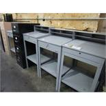 (4) Shippers Benches, (3) Files, Supply Cab. | Rig Fee: $0