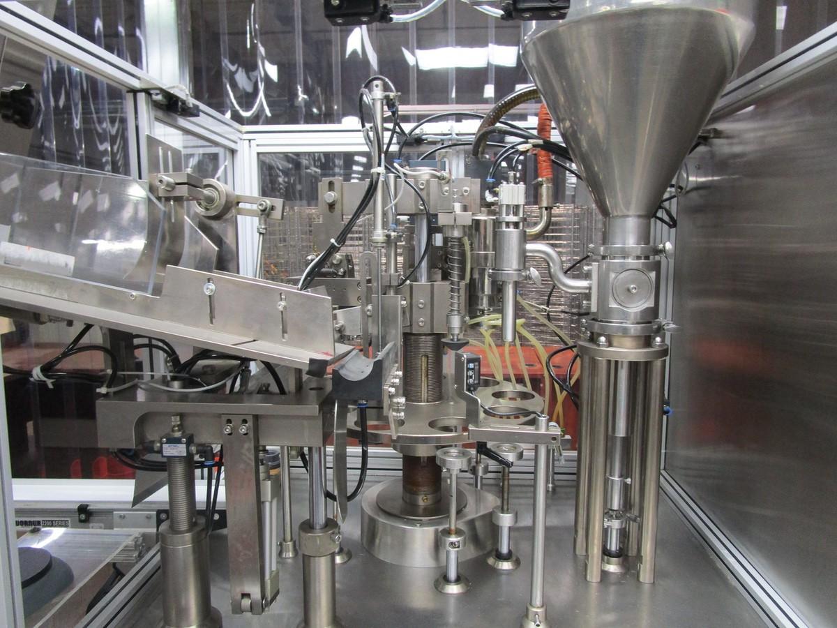 2013 JDA Packaging Equipment Super 30 Automatic Tube Filler s/n 150113, Conveyor, Hopper | Rig Fee: - Image 3 of 12