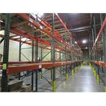 "(62) Sections of Adjustable Pallet Shelving Including (66) 16' x 44"" Uprights, (6) 