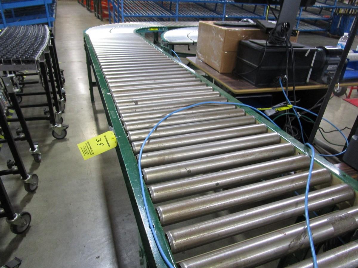 "18"" x 15' Power Conveyor with Roller Conveyor | Rig Fee: $100 - Image 5 of 6"