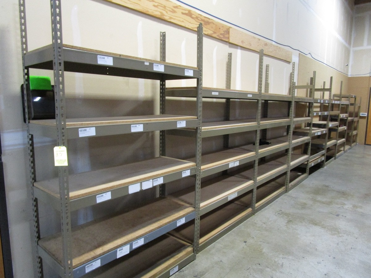 Lot 37 - Steel Shelving Along Wall | Buyer to Remove