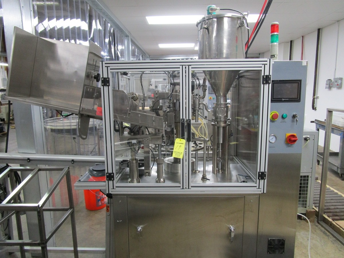 2011 TotalPacks TFS-100A Automatic Hot Air Tube Filler, s/n 5ML-250ML, Hopper & Part | Rig Fee: $650 - Image 2 of 12