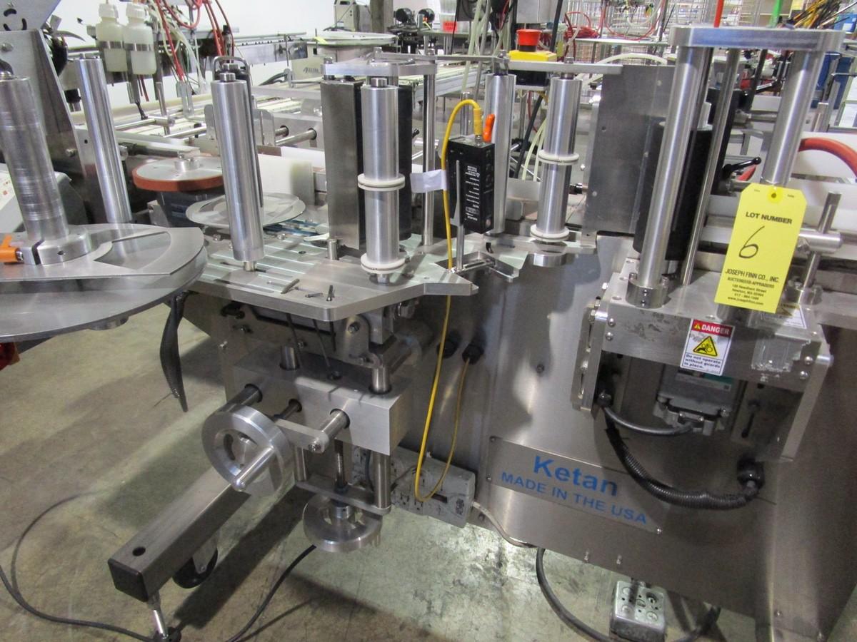 2017 Ketan LR-290R Wrap Around Labeler s/n KLS-136119, TC-34M Squeeze Conveyor | Rig Fee: $250 - Image 4 of 8